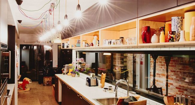 Pendant light installation in Thornbury kitchen