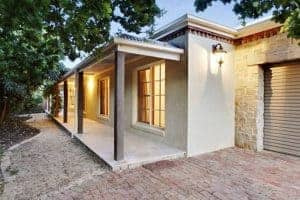 Automated home entry lights at this Mornington holiday house
